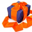 Gift pack on a white background. — Stock Photo