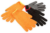 Work gloves isolated on white background. — 图库照片
