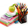 School and office supplies on white background. Back to school. — Stock Photo #17413717