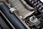 Mechanism of old typewriter close-up. — Stock Photo