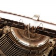 Stock Photo: Old typewriter with a sheet of paper.
