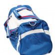 Stock fotografie: Blue sports bag isolated on white background.