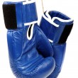图库照片: Boxing gloves isolated on white background.