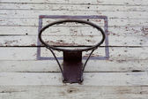Basketball hoop on the shield. — Stock Photo