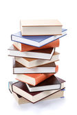 A stack of books on a white background. — Foto Stock