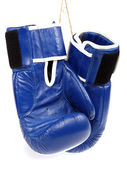Boxing gloves isolated on white background. — Foto de Stock