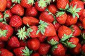 新鲜的草莓果作为背景. — 图库照片