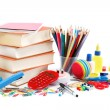 Stock Photo: School and office supplies. Back to school.
