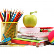 School and office supplies on white background. Back to school. — Stock Photo #30085049