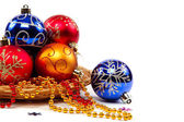 Christmas ornaments isolated on a white background. — 图库照片