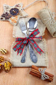 Festive table setting. The concept of the holiday. — Stock Photo