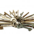 Bunch of old keys. — Stock Photo