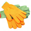 Two pairs of work gloves. — Stock Photo