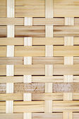 Wooden grid, the background of woven wood. Bamboo wood texture. — Photo