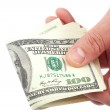 Money american hundred dollar bills in hand. — Stock Photo #41096367