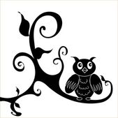 Owl decal — Vetorial Stock
