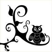 猫头鹰贴花 — 图库矢量图片