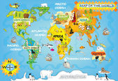 Kid's world map — Stock Photo