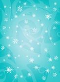 Blue snowflakes — Stock Photo