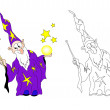 Stock Vector: Wizard