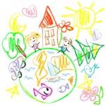 Earth doodles — Stock Vector