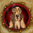 Stock Photo: Steampunk basset