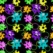 Vecteur: Monsters seamless pattern