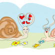 Snails Valentine — Stock Vector #18899843