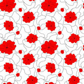 Poppy seamless pattern — Stock Vector