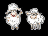 Sheep stickers set — Stock Vector