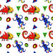 Lizards seamless pattern — Stock Vector