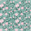 Sakura flowers seamless pattern — Stock Vector