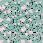Patrón sin costuras sakura flores — Vector de stock