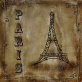 PAris vintage card — Stock Photo