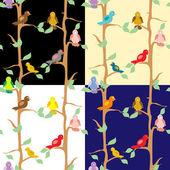 Birds seamless pattern — Stock Vector