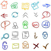 Icons doodles set — Stock Vector