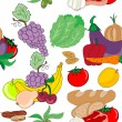 Royalty-Free Stock Imagen vectorial: Food seamless pattern