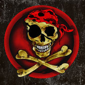 Pirate scull sign — Stock Photo