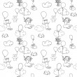 Stock Vector: Doodles seamless pattern