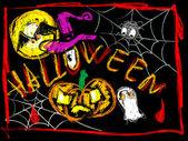 Cartel de halloween — Foto de Stock