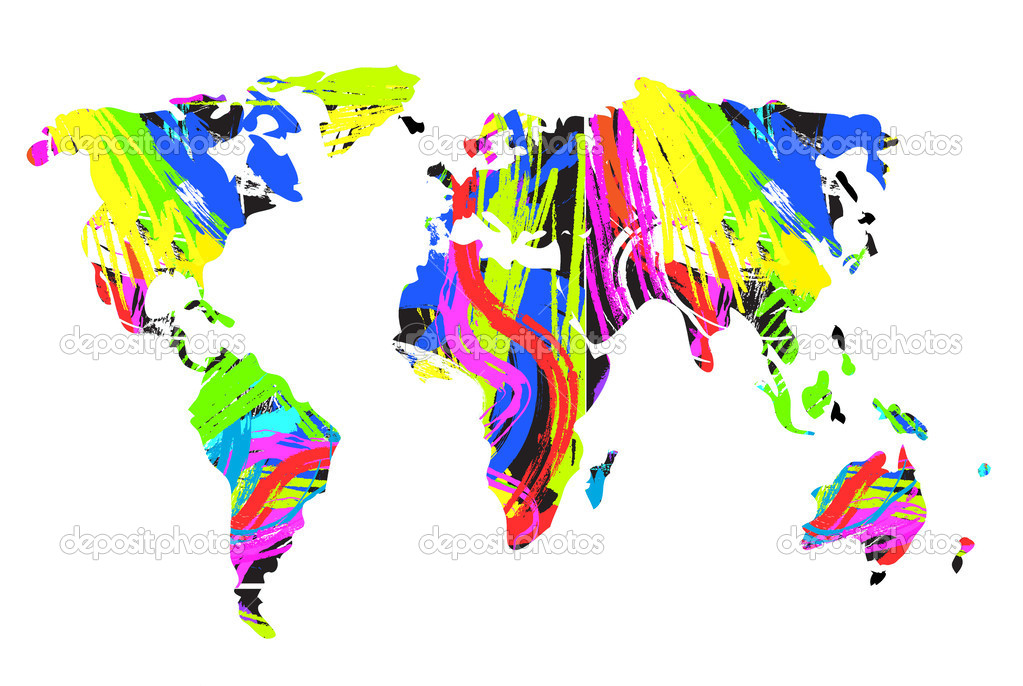tout est multicolore - Page 2 Depositphotos_32519725-Abstract-multicolor-world-map