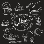 Menu chalk banner — Stock Vector