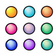Set of Multicolor buttons — Imagen vectorial