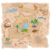 Treasure Island map — Stock Vector