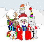 Noel tebrik kartı — Stok Vektör