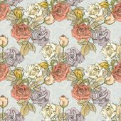 Vintage floral Seamless Pattern — Stock Photo