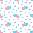 Valentine hearts  Seamless Pattern — Stockvektor