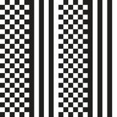 Black and white Chess Stripes seamless Pattern — Stock Vector
