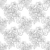 Monochrome Vintage Roses Seamless Pattern — Stock Photo