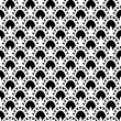Lace monochrome Seamless Pattern — Stock Vector